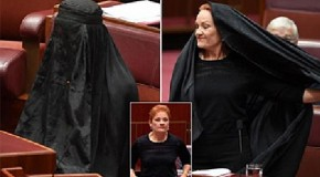 MP wears burka in Parliament about Borka to be banned in the Australia