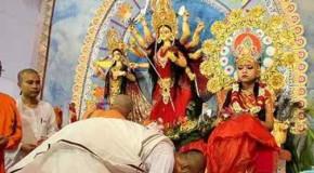 Hindus celebrating Maha Ashtami