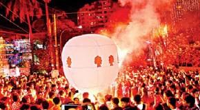 নিষেধাজ্ঞা সত্বেও চট্টগ্রামের আকাশে ফানুস উড়িয়েছে বৌদ্ধরা